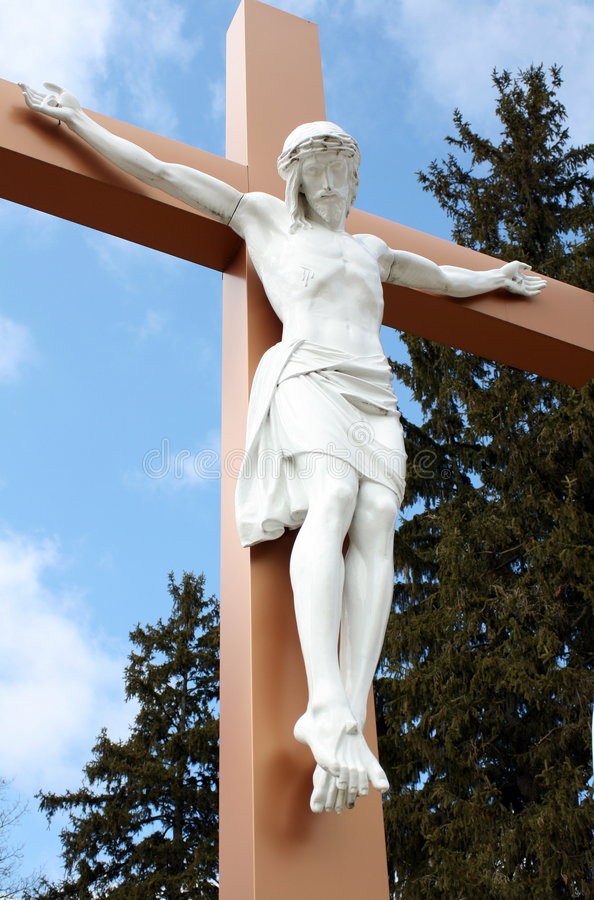 Christ on the Cross stock photography