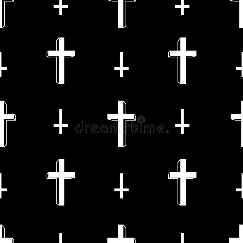 Christ cross Halloween icon vector seamless pattern isolated wallpaper background stock illustration