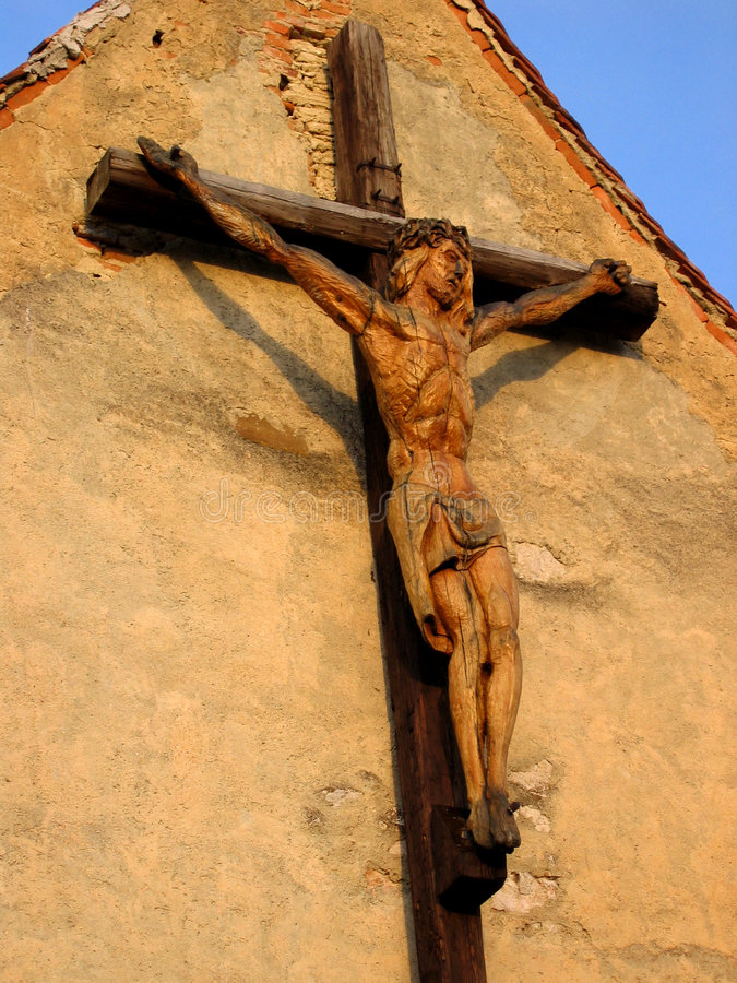 Christ crucified royalty free stock photos