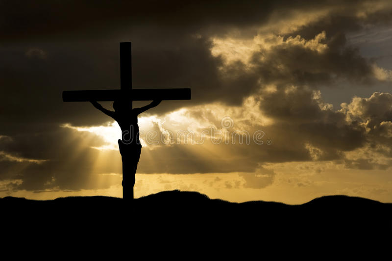 christ crucifixionfriday god jesus silhouette arkivbilder