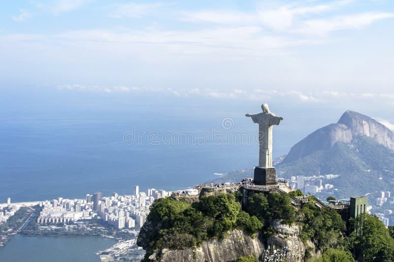 Christ der Redeemer - Rio de Janeiro - Brasilien lizenzfreies stockbild