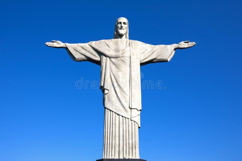 Christ die Redeemerstatue Rio de Janeiro Brasilien stockbild