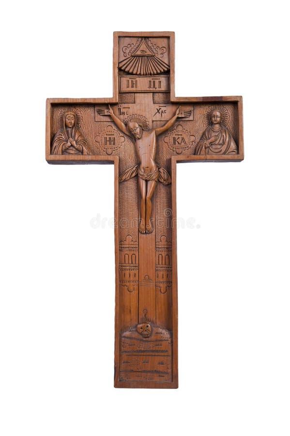 christ drewniany przecinający Jesus zdjęcie royalty free