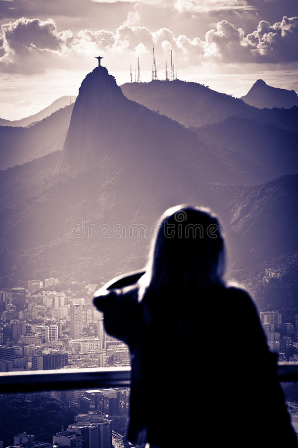 Christ a estátua do Redeemer fotografia de stock royalty free