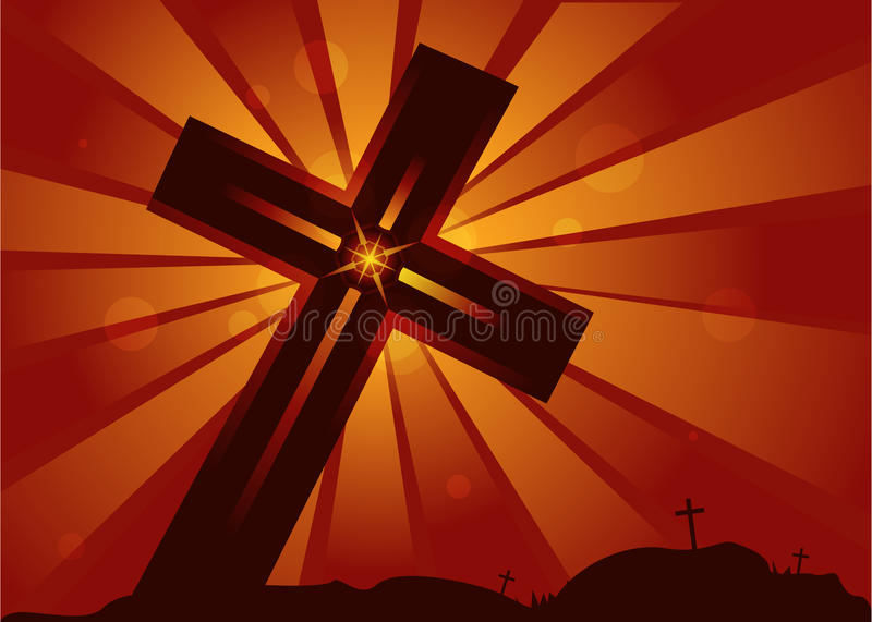 Christ holy cross. royalty free illustration
