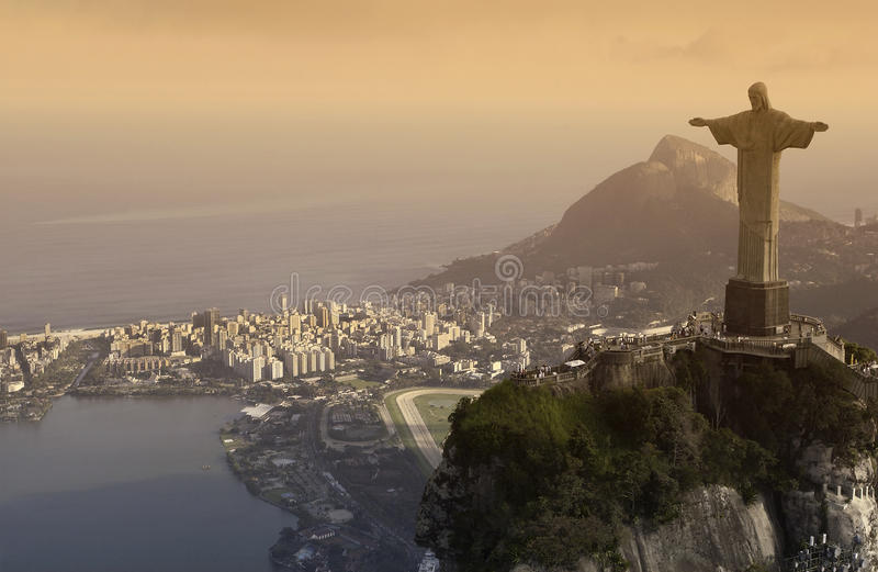 Christ il Redeemer - Rio de Janeiro - Brasile fotografia stock