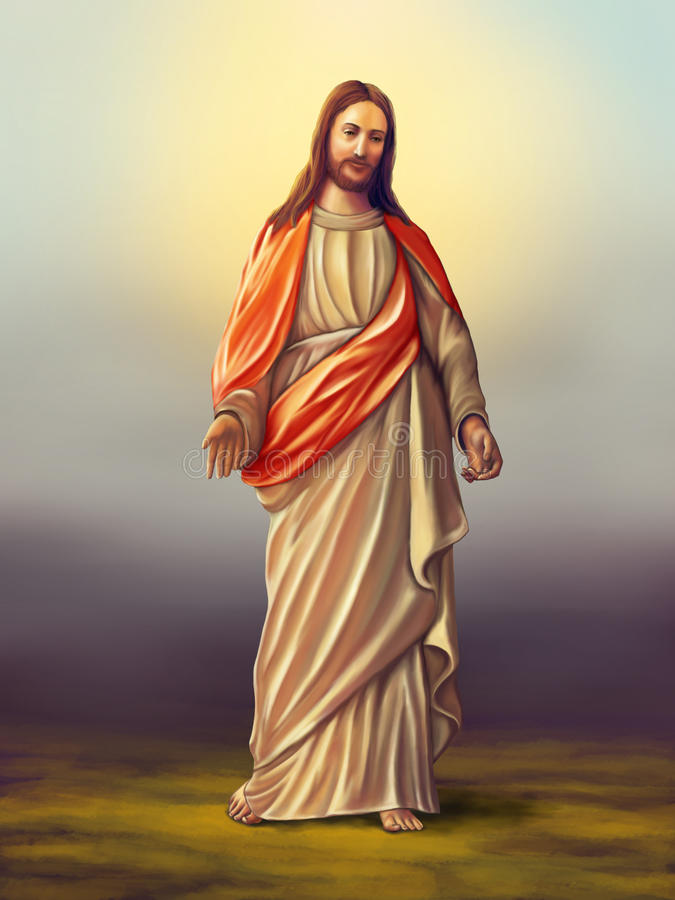 christ jesus royaltyfri illustrationer