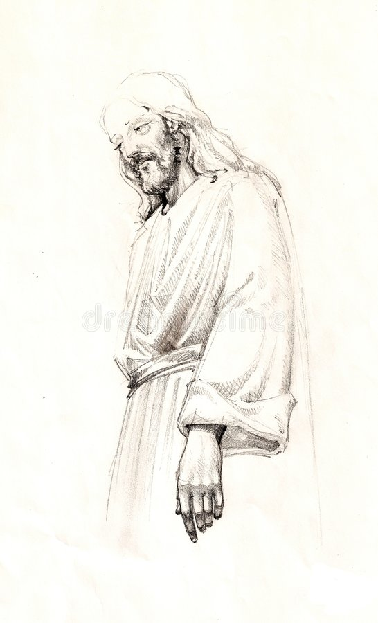 christ jesus stock illustrationer