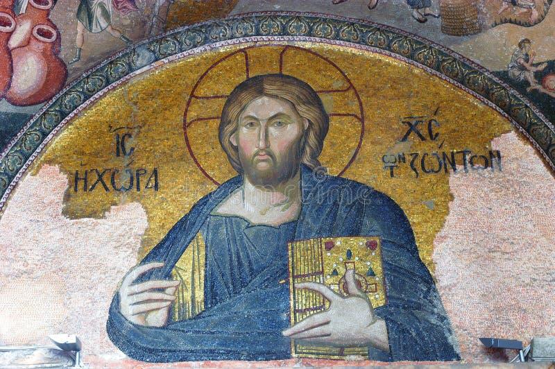 christ jesus mosaik arkivfoton