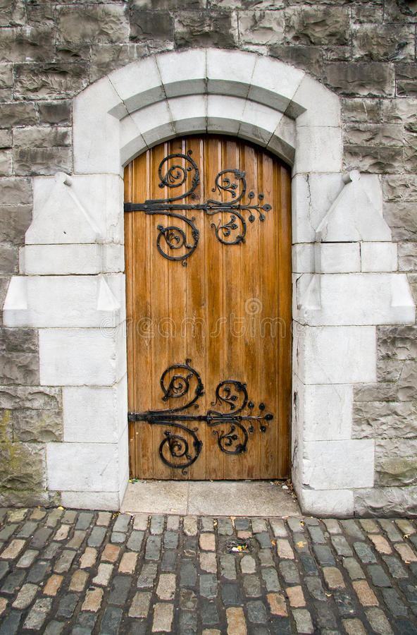 Christ-Kirche-Kathedraletür, Dublin, Irland lizenzfreies stockbild