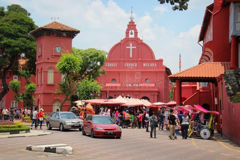 Christ-Kirche Melaka stockfotografie
