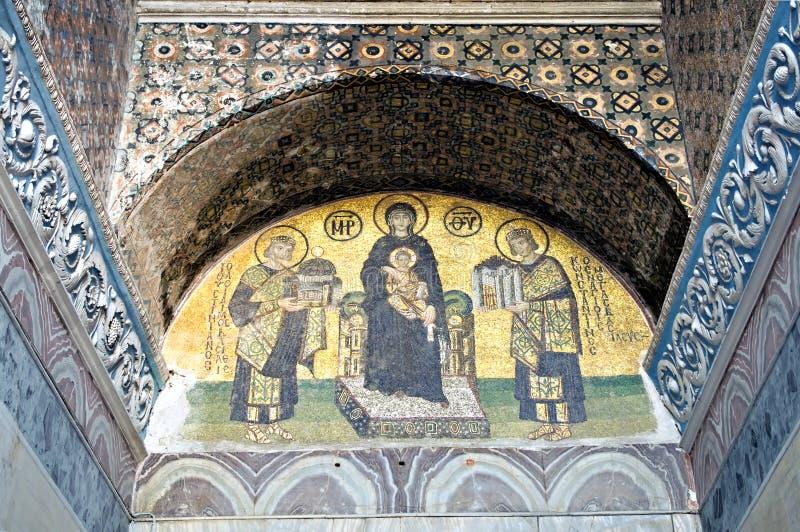 christ kościelna hagia Jesus mozaika Sofia obraz royalty free