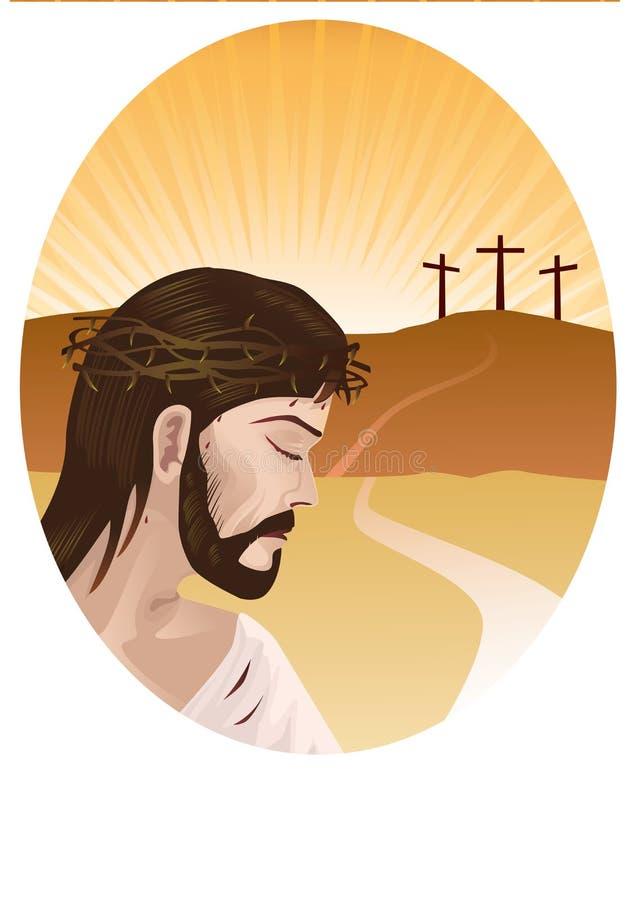 christ kors jesus royaltyfri illustrationer
