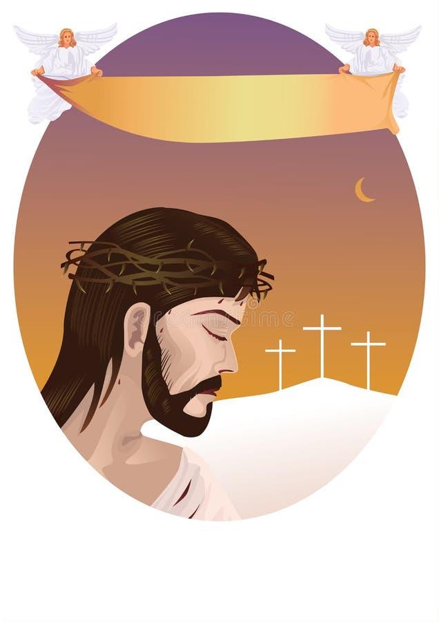 christ kors jesus vektor illustrationer