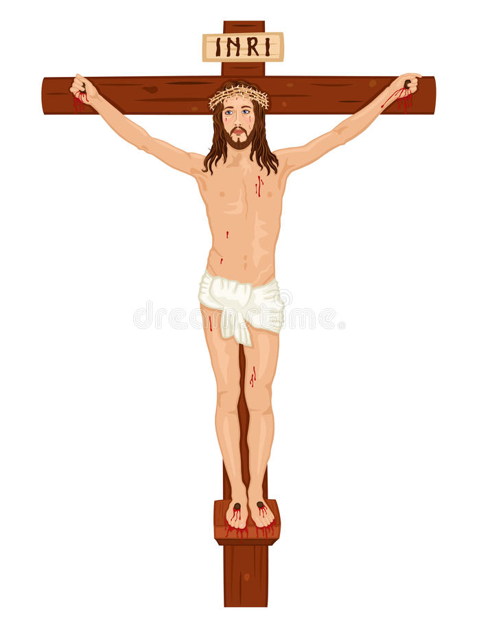 christ korscrucifixon jesus vektor illustrationer