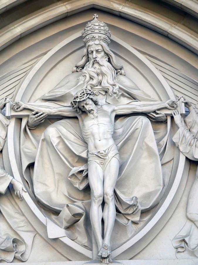 christ kyrklig jesus staty royaltyfri bild