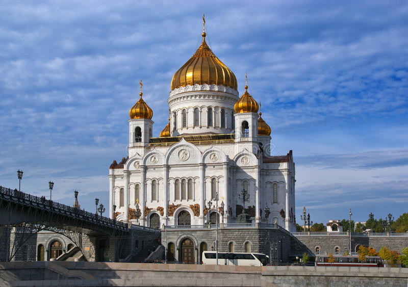 Christ la cattedrale del salvatore. Mosca. fotografia stock