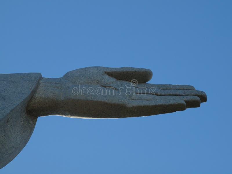 Christ la fine della mano del redeemer in su fotografie stock libere da diritti