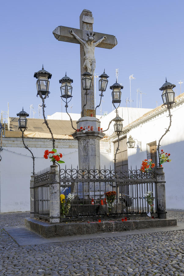 Christ of the Lanterns in Cordoba. Spain royalty free stock images
