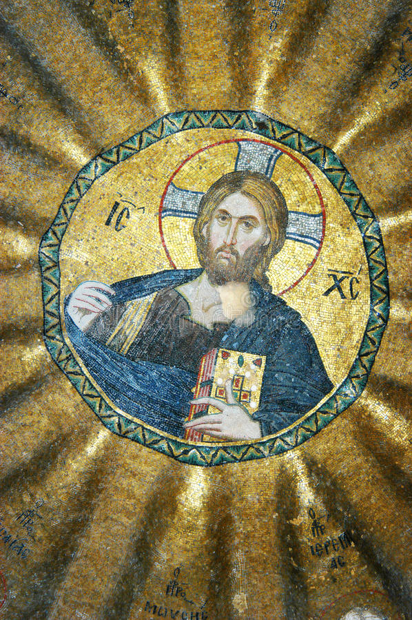 christ mozaika Jesus zdjęcia stock