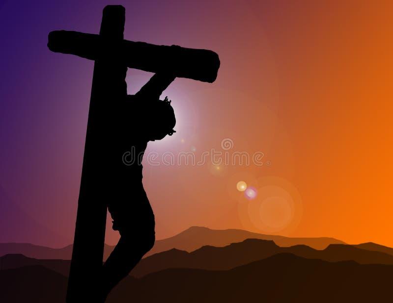 Christ na ilustração transversal ilustração stock