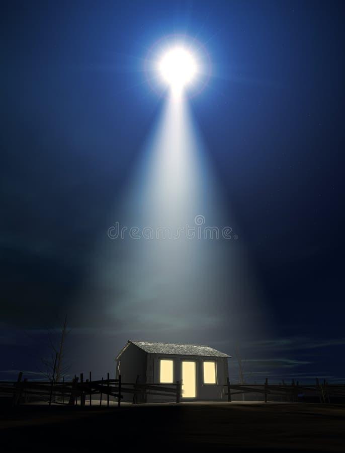 Christ narodziny W stajence ilustracja wektor