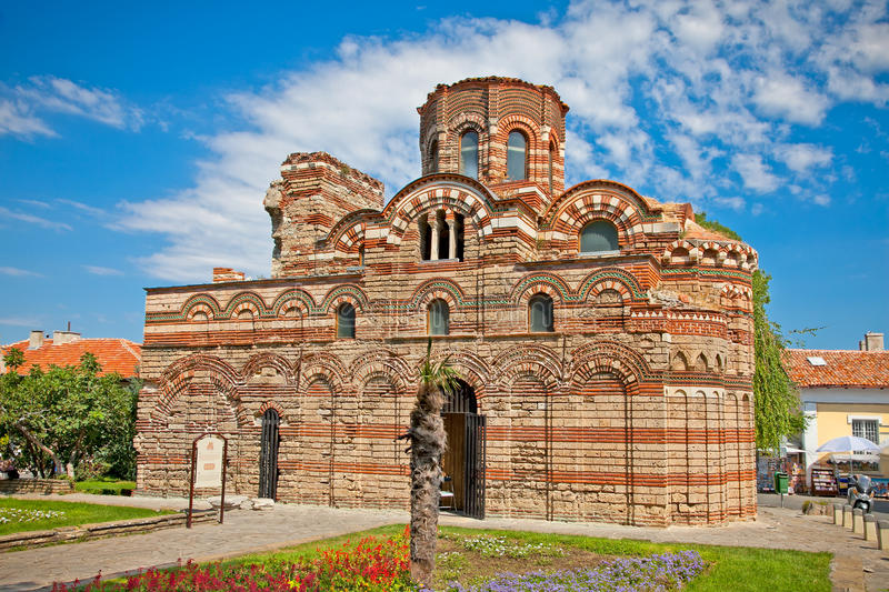The Christ Pantocrator Curch in Nessebar, Bulgaria. stock photos