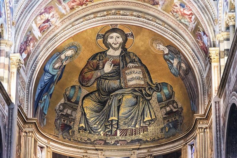 Christ Pantocrator, igreja de Orthotox foto de stock