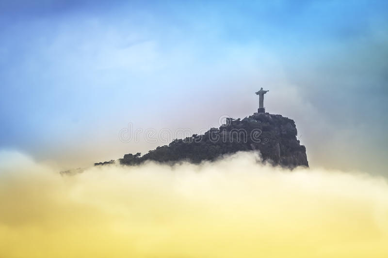 Download Christ The Redeemer In Clouds, Rio De Janeiro Stock Photo - Image: 37928486