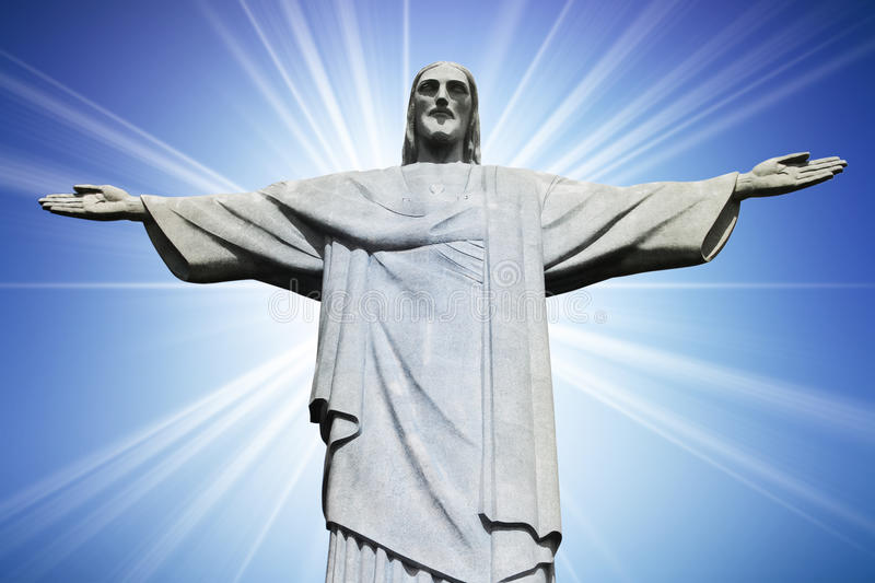 Download Christ The Redeemer On Corcovado Mountain, Rio De Stock Image - Image of catholic, blue: 12330685