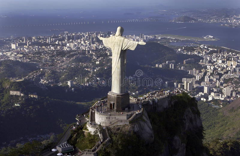 Christ the Redeemer - Rio de Janeiro - Brazil. The Christ the Redeemer Statue at Corcovado overlooking the city of Rio de Janeiro in Brazil
