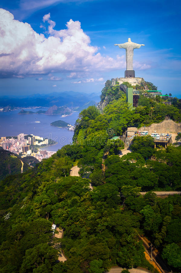 Download Christ the Redeemer Statue stock image. Image of mountain - 34712939
