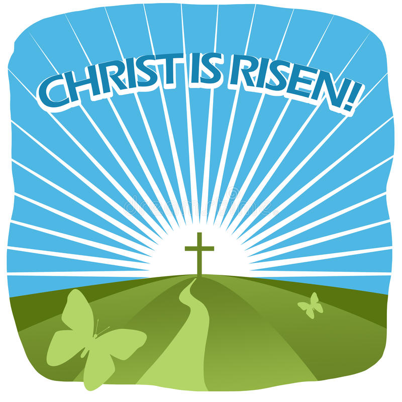 Christ is risen royalty free illustration