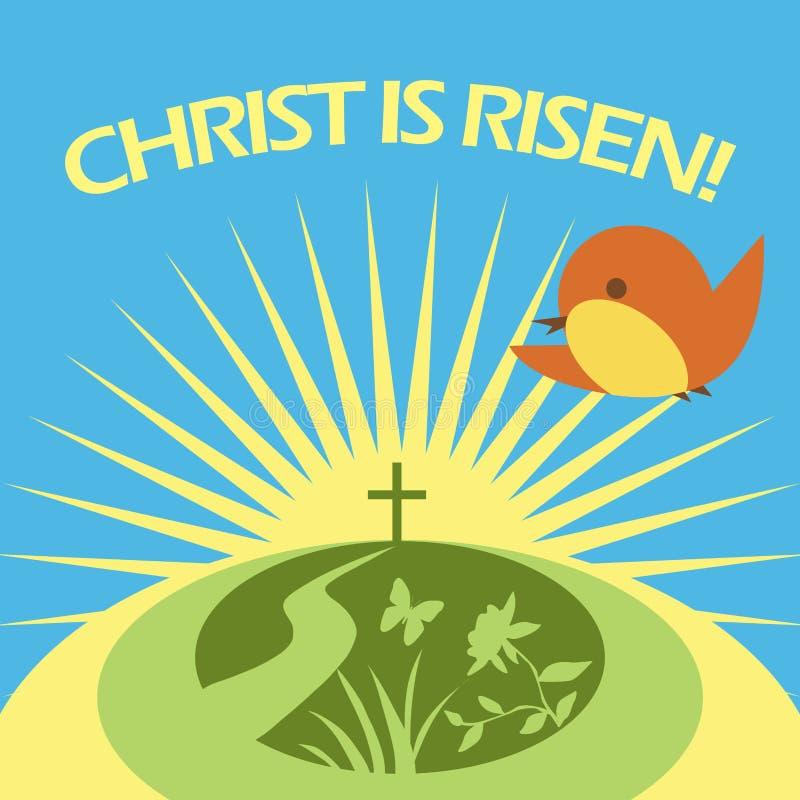 Christ is risen vector illustration