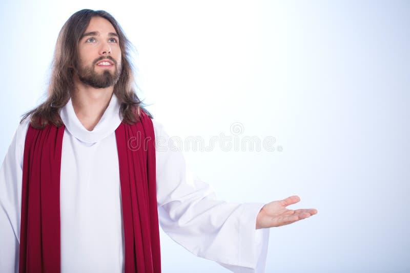 Christ saying a prayer royalty free stock photos