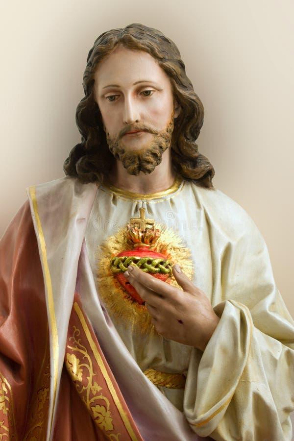 christ serce obraz royalty free