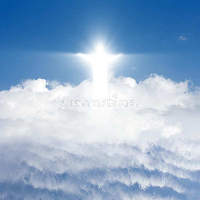 Christ in sky royalty free stock photo