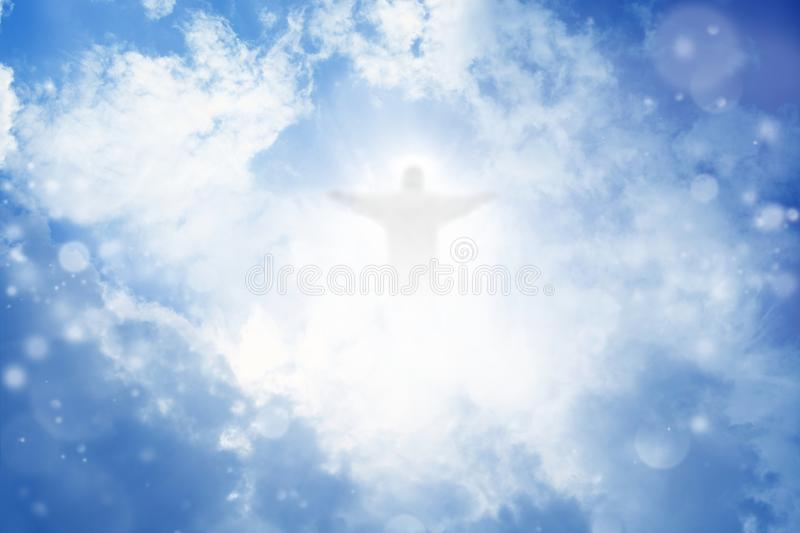 Christ in sky royalty free stock photos