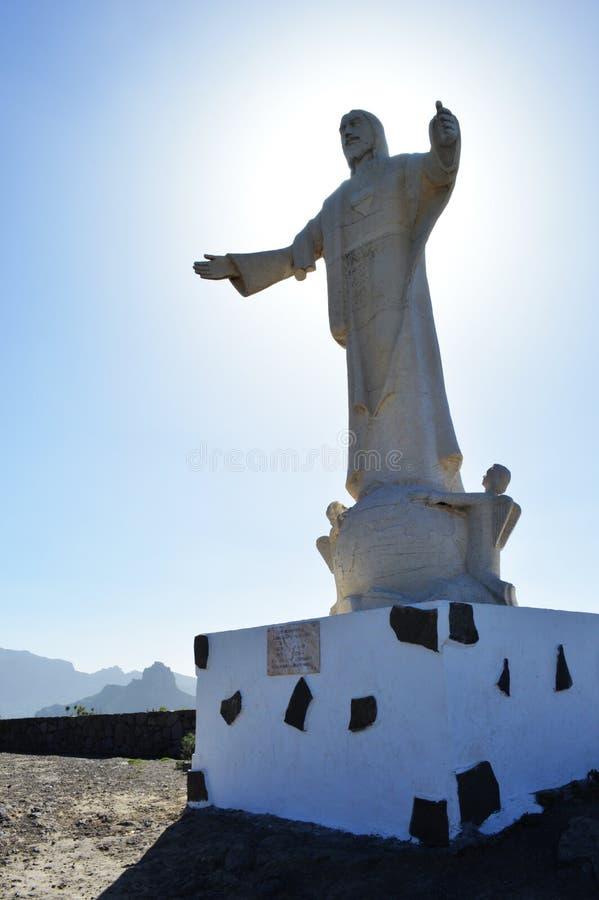 Christ statue stock photo