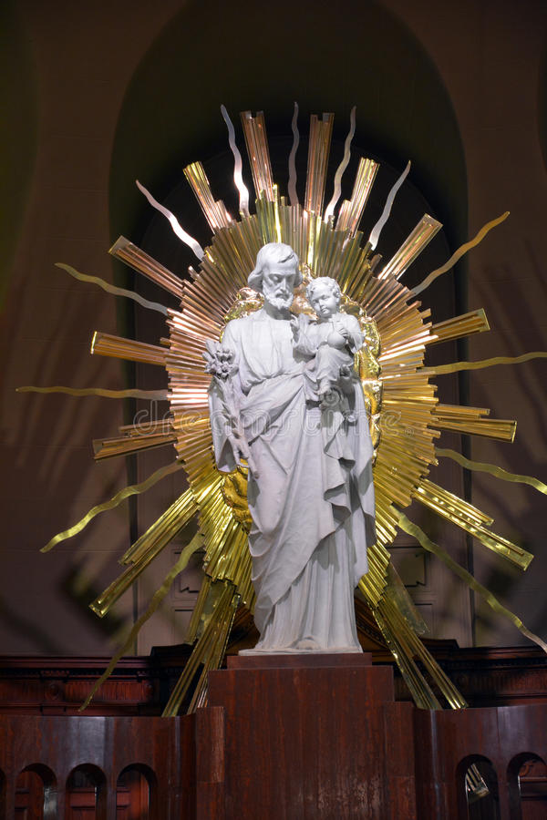 Christ statue of Saint Joseph Oratory of Mount Royal Crypt stock images