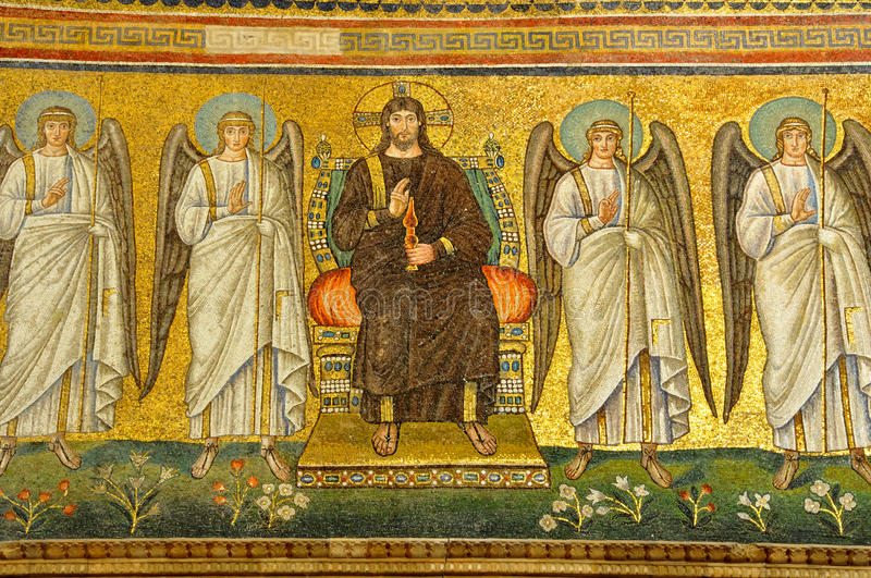 Download Christ Surrounded By Angels Stock Photo - Image: 11860438