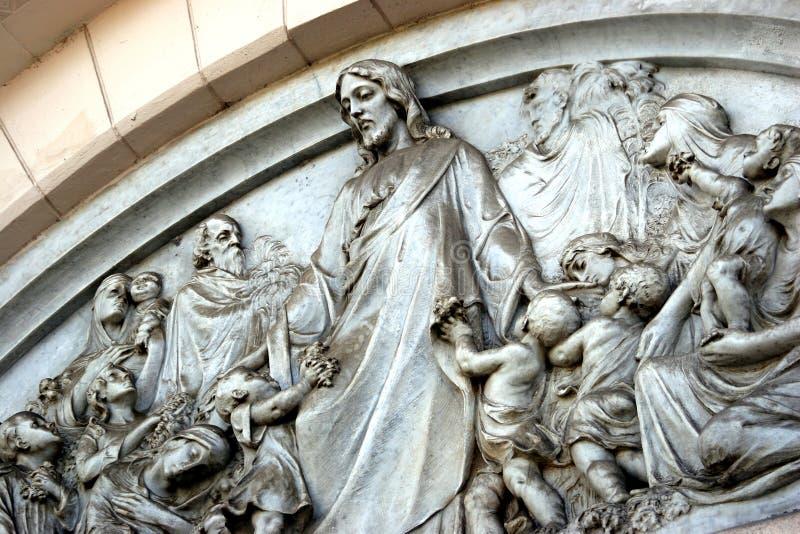 Christ und Kinder lizenzfreie stockbilder