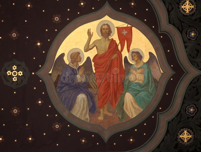 christ uppståndelse royaltyfria bilder