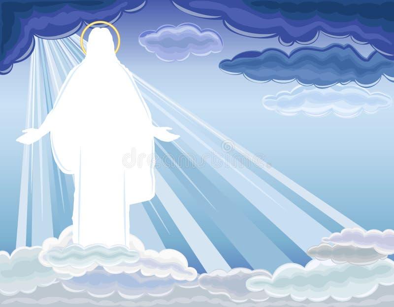 Christ wird - die Auferstehung gestiegen lizenzfreie abbildung