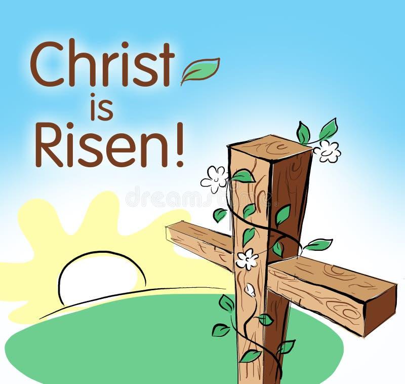 Christ wird gestiegen vektor abbildung