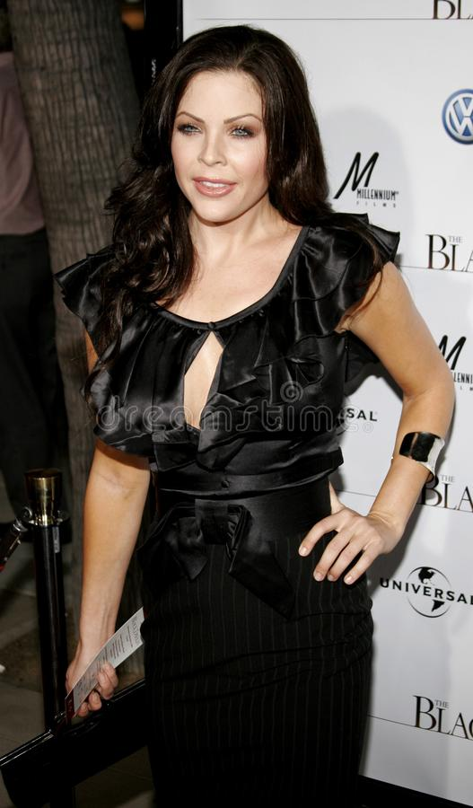 Christa Campbell. BEVERLY HILLS, CALIFORNIA. Wednesday September 6, 2006. Christa Campbell attends the Los Angeles Premiere of `The Black Dahlia` held at the royalty free stock photo