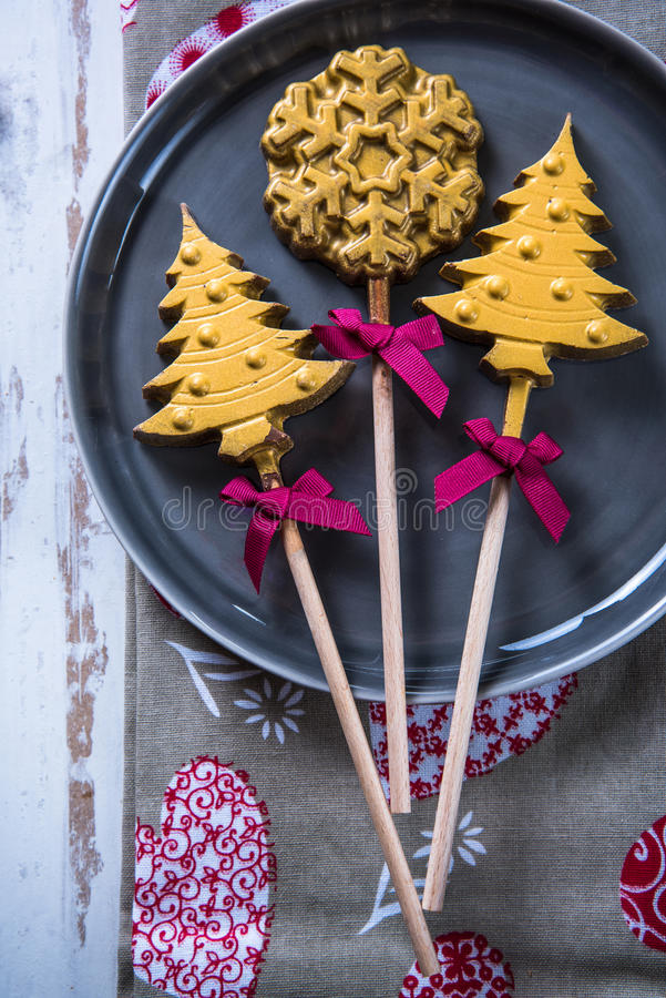 Christams tree and star candy royalty free stock photography