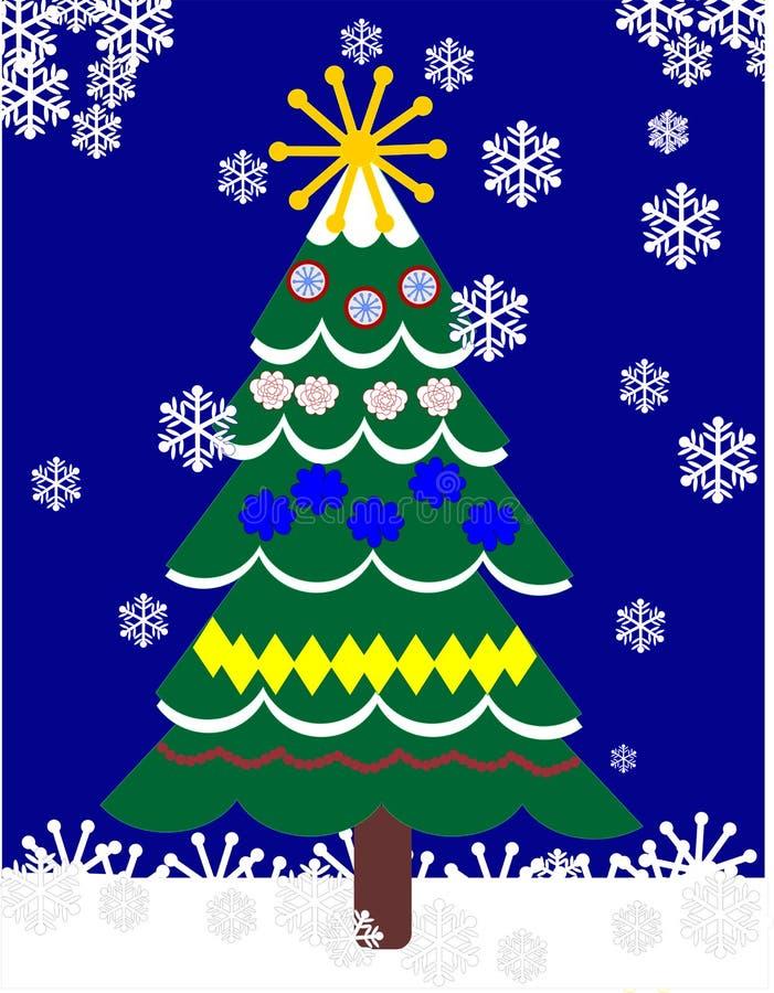 Christas tree outdoors stock image