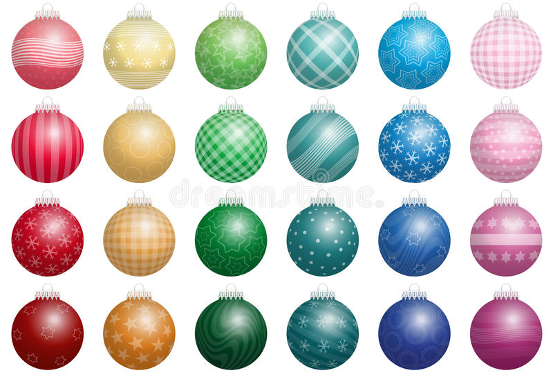 Christbaumkugel-Farben vektor abbildung
