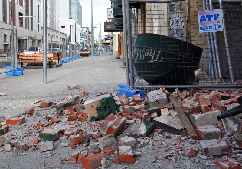 christchurch οδός σεισμού hereford στοκ φωτογραφίες